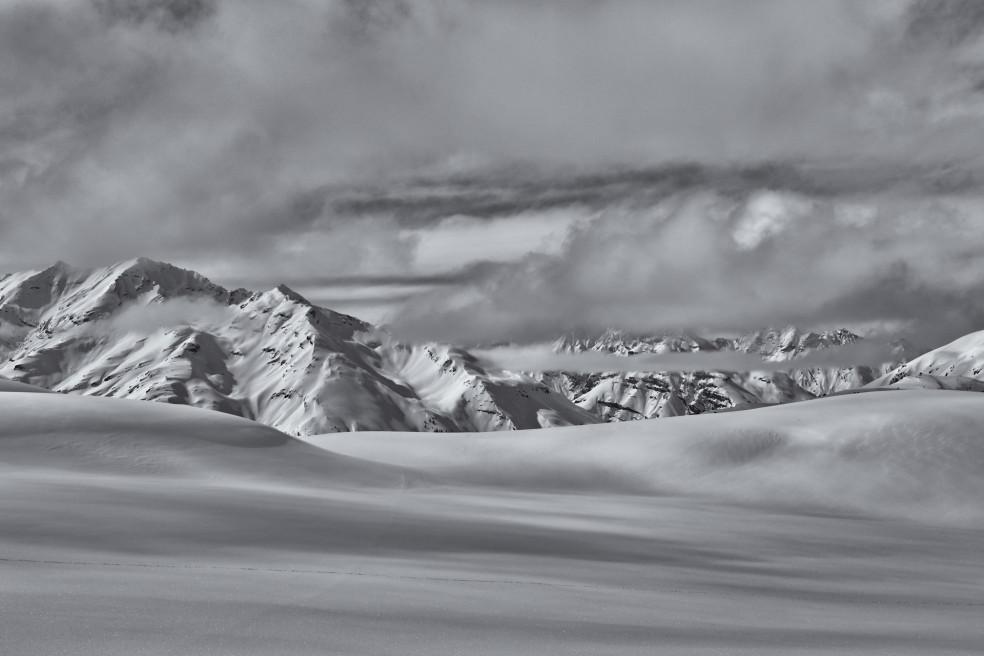 Winter in Schwarzweiss