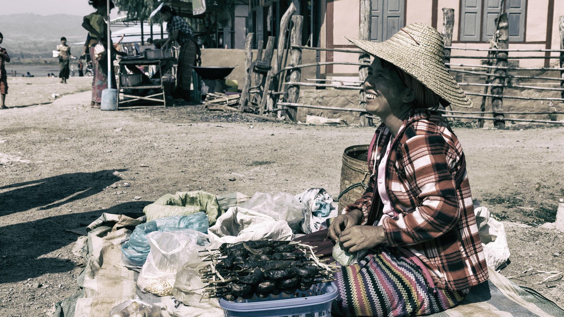 Menschen in Myanmar
